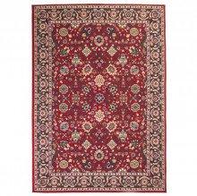 Covor persan, design oriental, 140 x 200 cm, rosu/bej